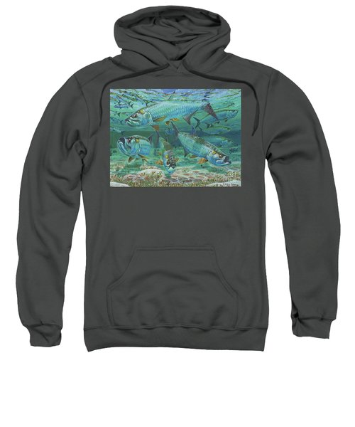 Tarpon Rolling In0025 Sweatshirt by Carey Chen