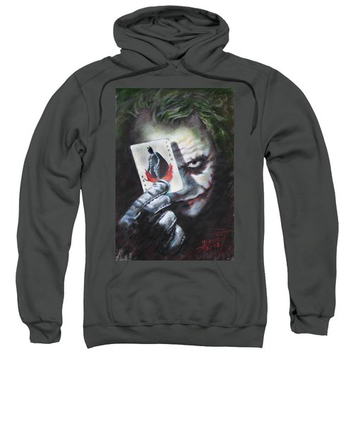 The Joker Heath Ledger  Sweatshirt by Viola El