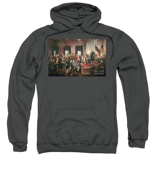 The Signing Of The Constitution Of The United States In 1787 Sweatshirt by Howard Chandler Christy