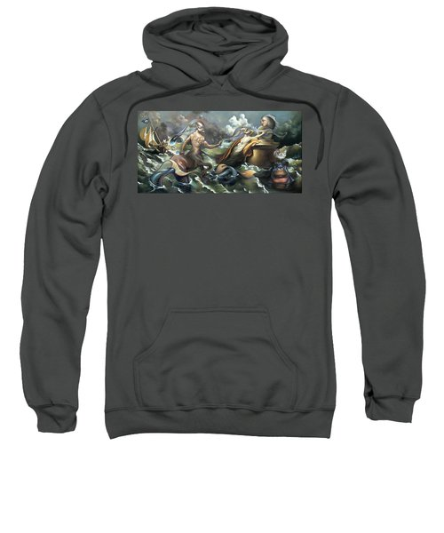 There's Something Fowl Afloat Sweatshirt by Patrick Anthony Pierson