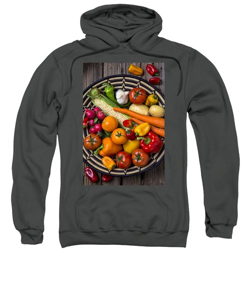 Vegetable Basket    Sweatshirt by Garry Gay