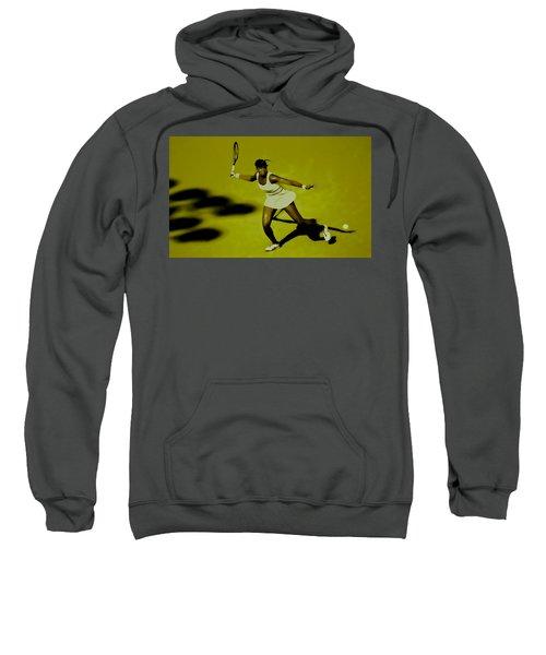 Venus Williams In Action Sweatshirt by Brian Reaves