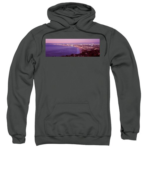 View Of Los Angeles Downtown Sweatshirt by Panoramic Images