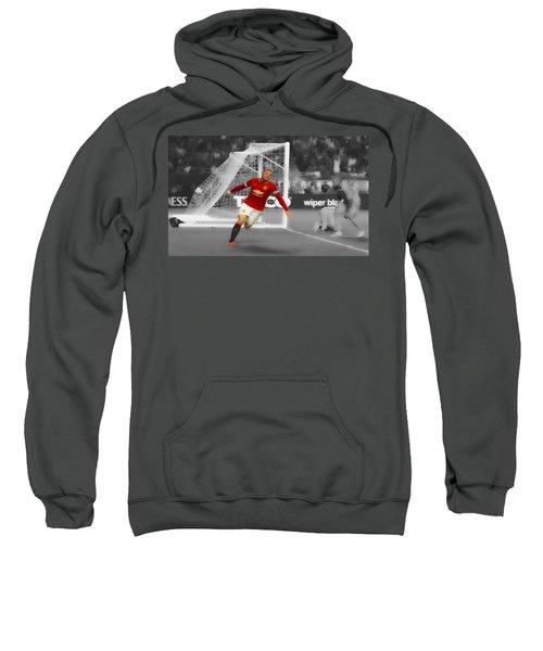 Wayne Rooney Scores Again Sweatshirt by Brian Reaves