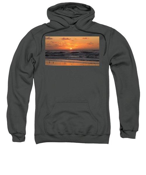 Wildwood Beach Here Comes The Sun Sweatshirt by David Dehner
