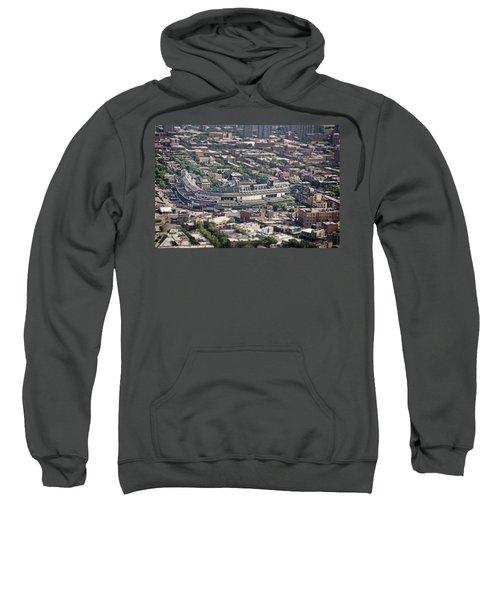 Wrigley Field - Home Of The Chicago Cubs Sweatshirt by Adam Romanowicz