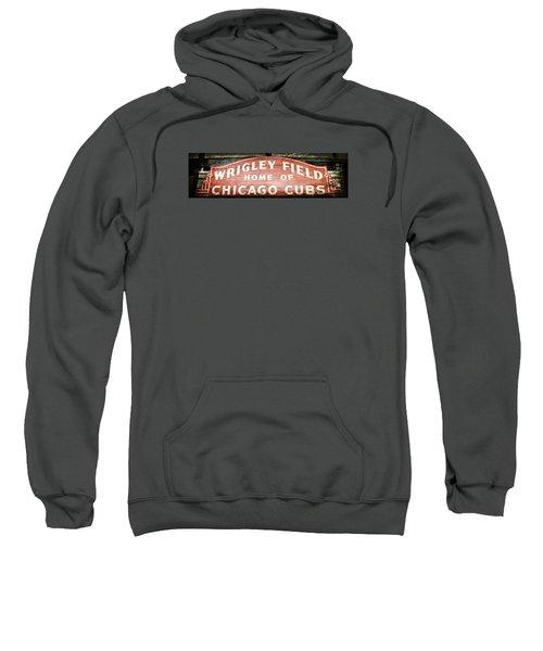 Wrigley Field Sign - No.2 Sweatshirt by Stephen Stookey