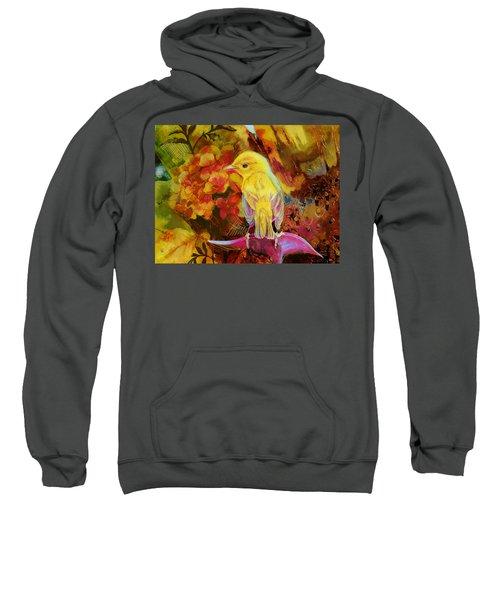 Yellow Bird Sweatshirt by Catf