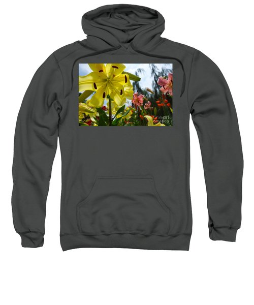 Yellow Whopper Lily 1 Sweatshirt by Jacqueline Athmann
