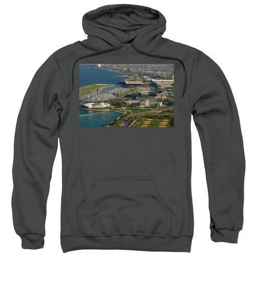 Chicagos Lakefront Museum Campus Sweatshirt by Steve Gadomski
