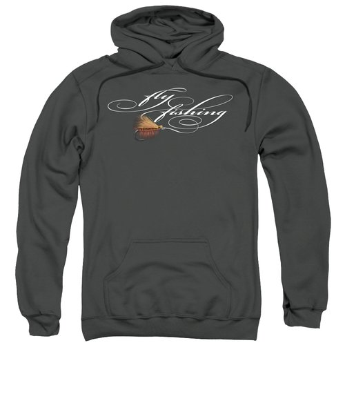 Fly Fishing Elk Hair Caddis Sweatshirt by Rob Corsetti