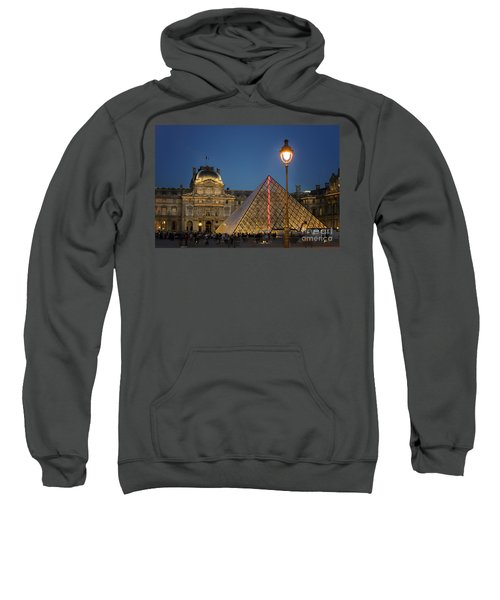 Louvre Museum At Twilight Sweatshirt by Juli Scalzi