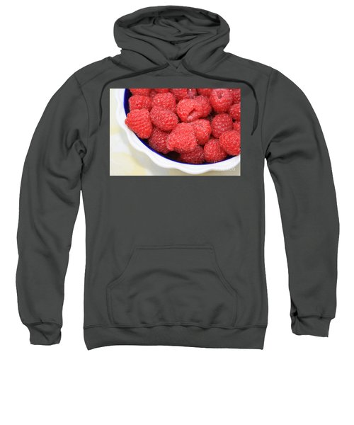 Raspberries In Polish Pottery Bowl Sweatshirt by Carol Groenen