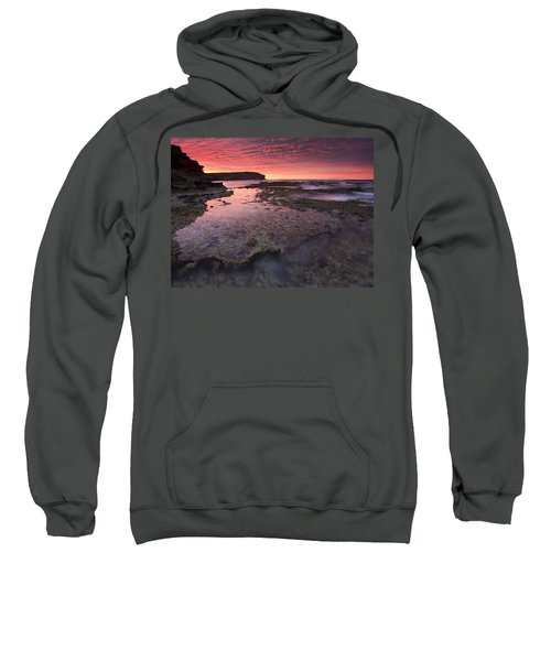 Red Sky At Morning Sweatshirt by Mike  Dawson