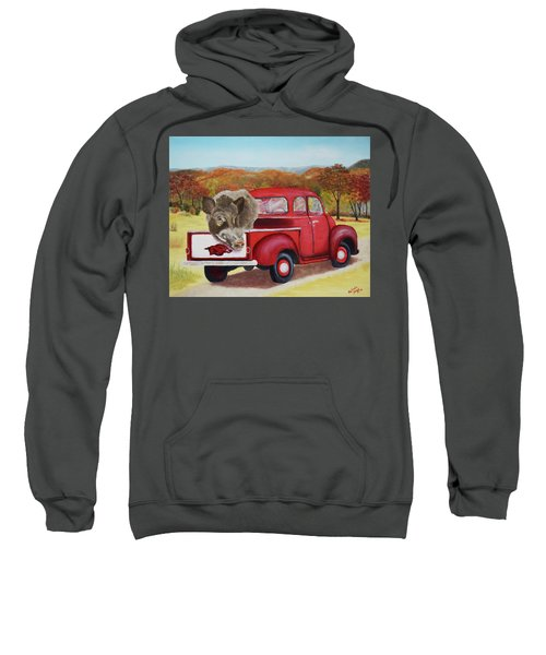 Ridin' With Razorbacks 2 Sweatshirt by Belinda Nagy