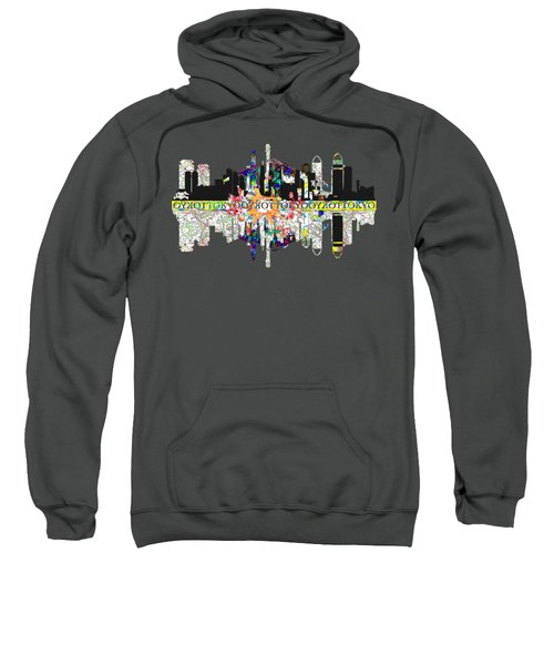 Tokyo Skyline Sweatshirt by John Groves