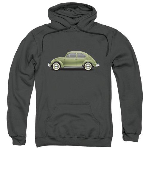 1957 Volkswagen Deluxe Sedan - Diamond Green Sweatshirt by Ed Jackson