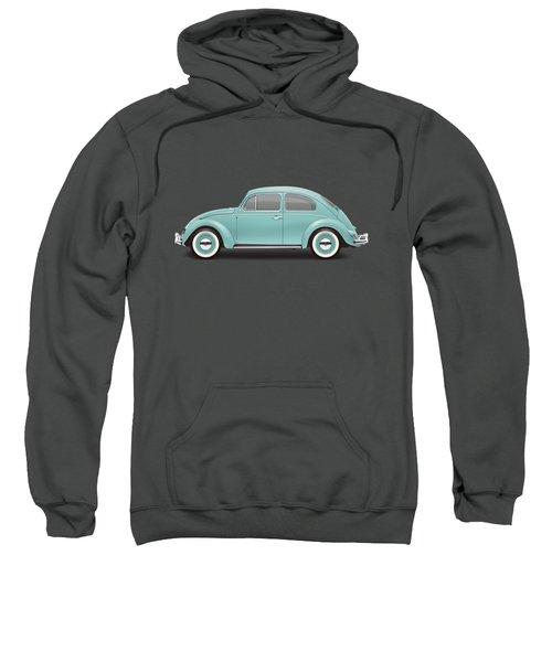 1961 Volkswagen Deluxe Sedan - Turquoise Sweatshirt by Ed Jackson