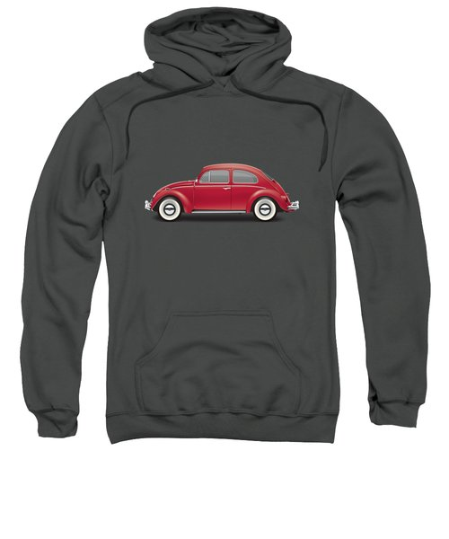 1964 Volkswagen 1200 Deluxe Sedan - Ruby Red Sweatshirt by Ed Jackson