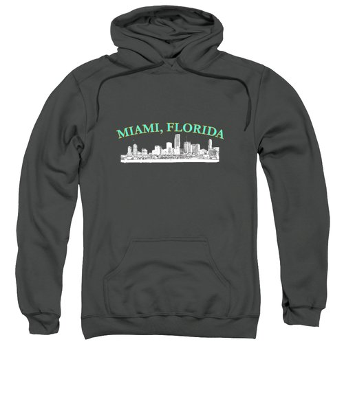 Miami Florida Sweatshirt by Brian's T-shirts