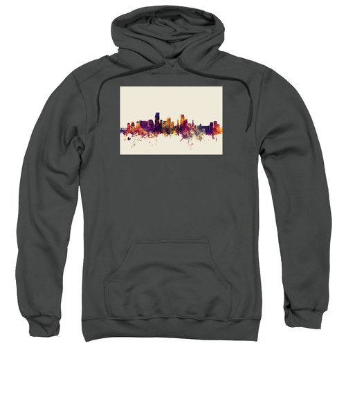 Miami Florida Skyline Sweatshirt by Michael Tompsett