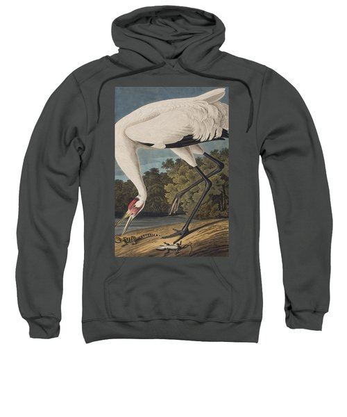 Whooping Crane Sweatshirt by John James Audubon