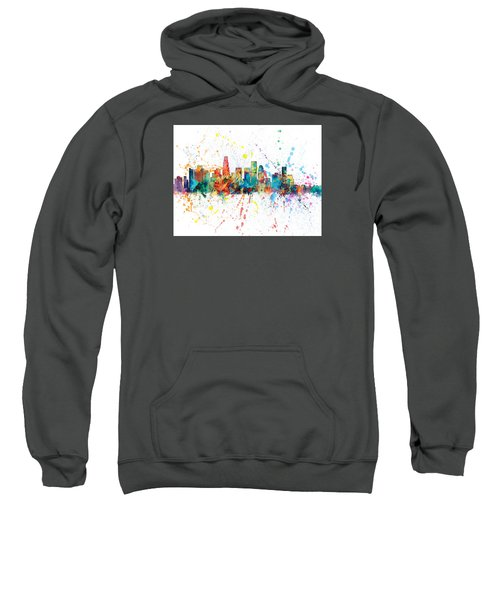 Los Angeles California Skyline Sweatshirt by Michael Tompsett