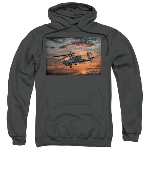 Ah-64 Apache Attack Helicopter Sweatshirt by Randy Steele