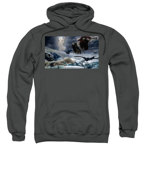 Ahasuerus At The End Of The World Sweatshirt by Adolph Hiremy Hirschl