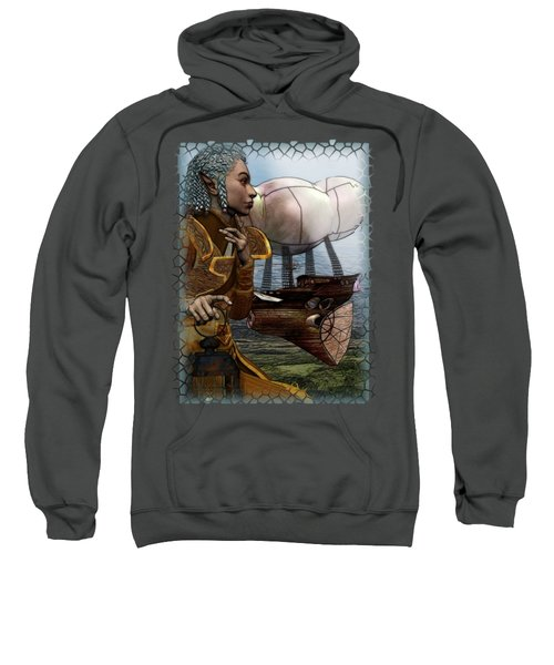 Airship Sweatshirt by Sharon and Renee Lozen