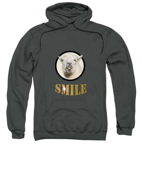 Alpaca Smile  Sweatshirt by Rob Hawkins