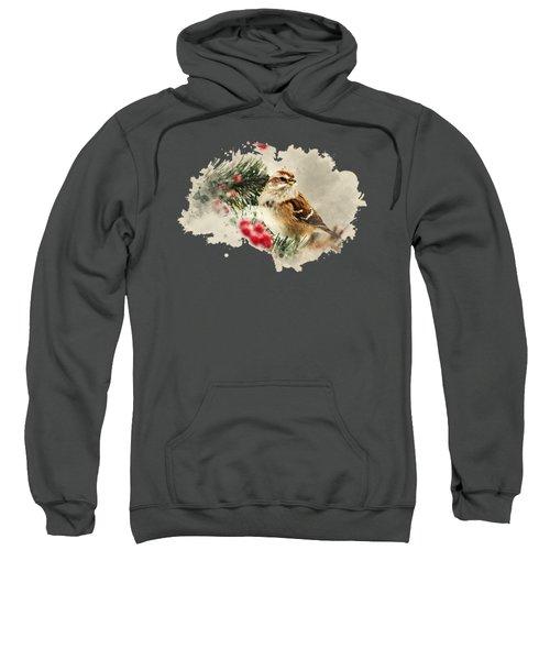 American Tree Sparrow Watercolor Art Sweatshirt by Christina Rollo
