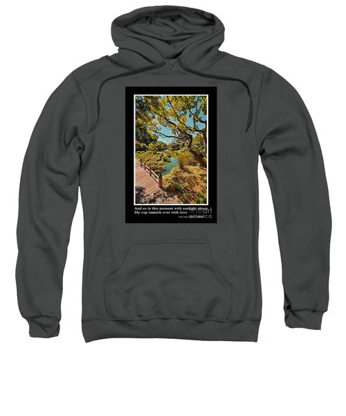 And So In This Moment With Sunlight Above Sweatshirt by Jim Fitzpatrick
