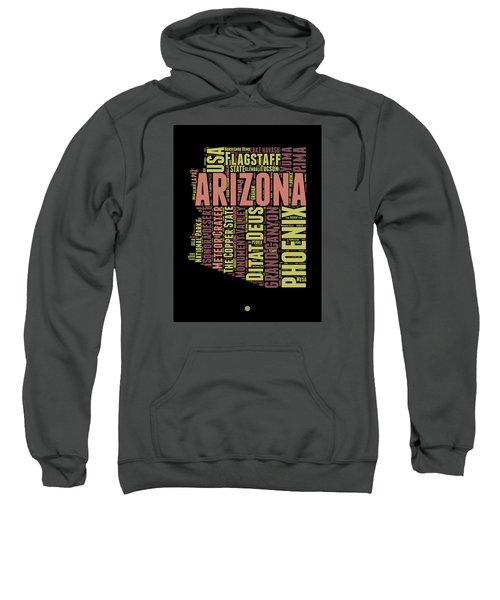 Arizona Word Cloud Map 1 Sweatshirt by Naxart Studio