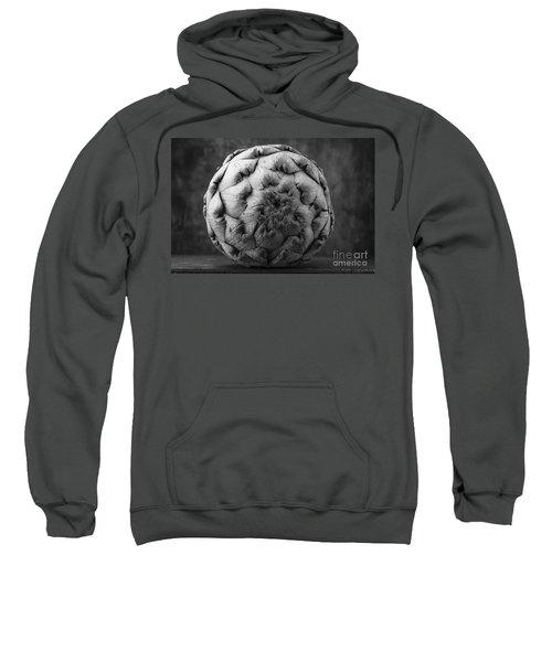 Artichoke Black And White Still Life Two Sweatshirt by Edward Fielding