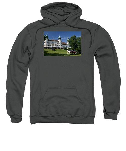 Sweatshirt featuring the photograph Artstetten Castle In June by Travel Pics
