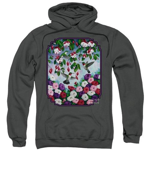 Bird Painting - Hummingbird Heaven Sweatshirt by Crista Forest