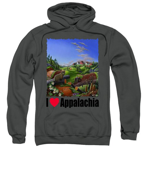 I Love Appalachia - Spring Groundhog Sweatshirt by Walt Curlee