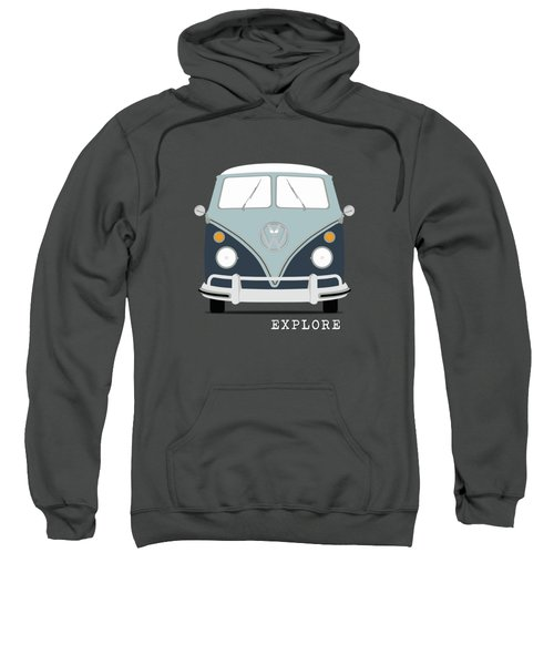 Vw Bus Blue Sweatshirt by Mark Rogan