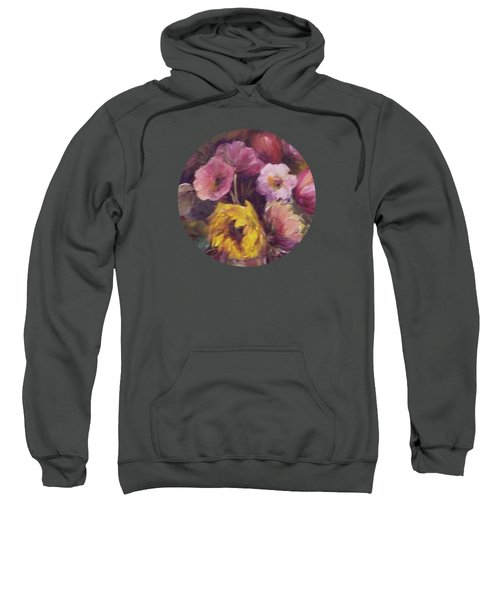 Abundance- Floral Painting Sweatshirt by Mary Wolf