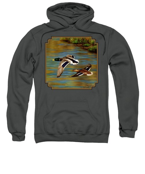 Golden Pond Sweatshirt by Crista Forest