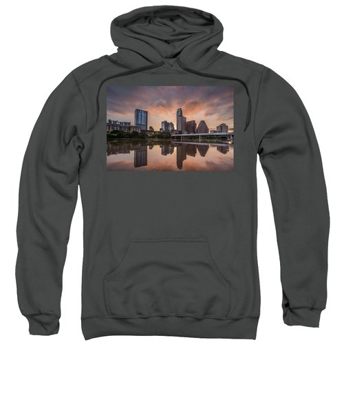 Austin Skyline Sunrise Reflection Sweatshirt by Todd Aaron