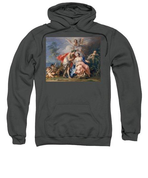 Bacchus And Ariadne Sweatshirt by Jacopo Amigoni