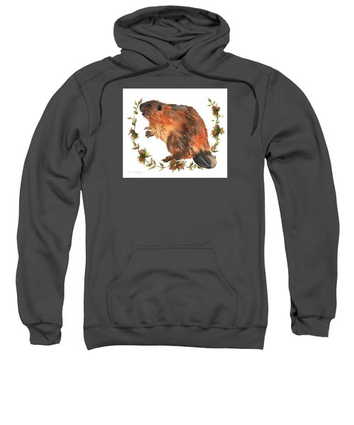Beaver Painting Sweatshirt by Alison Fennell