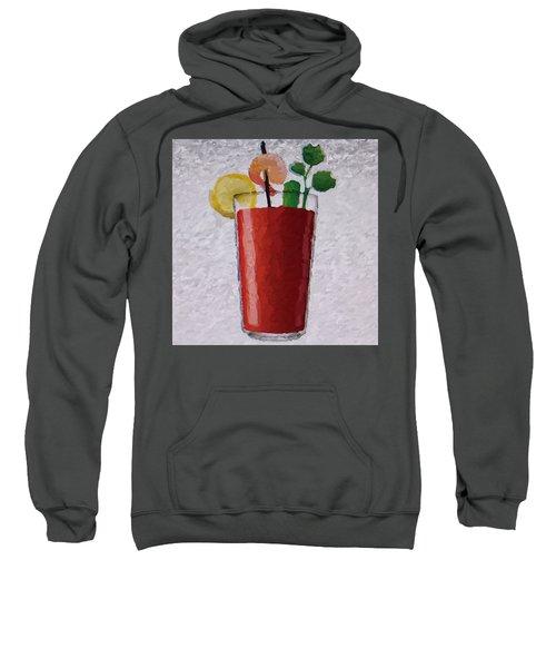 Bloody Mary Emoji Sweatshirt by  Judy Bernier