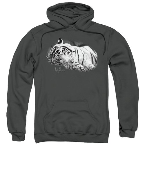 Blue Eyes - Black And White Sweatshirt by Lucie Bilodeau