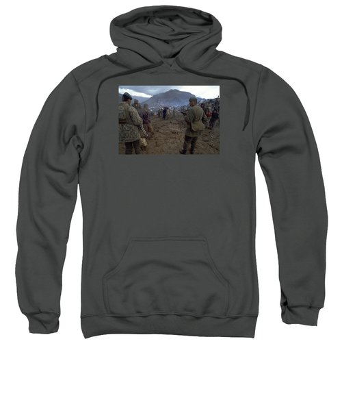 Sweatshirt featuring the photograph Border Control by Travel Pics