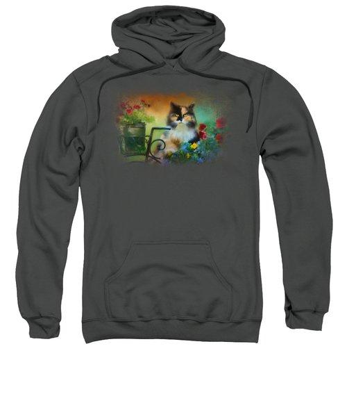 Calico In The Garden Sweatshirt by Jai Johnson