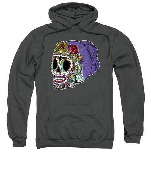 Catrina Sugar Skull Sweatshirt by Tammy Wetzel