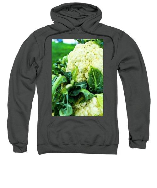 Cauliflower Head Sweatshirt by Teri Virbickis